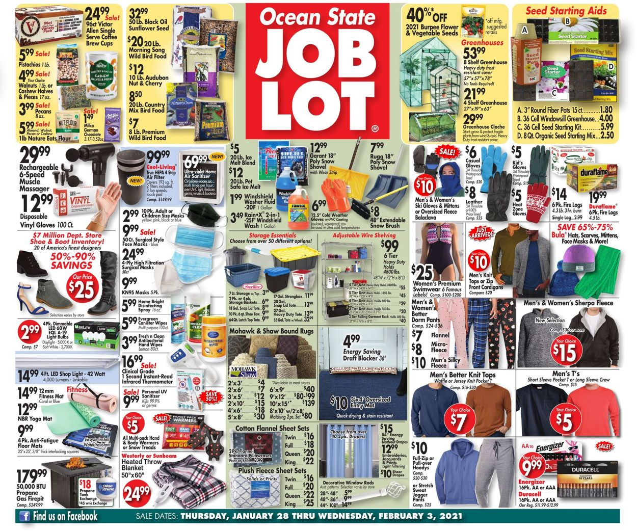 Ocean State Job Lot Weekly Ad Circular - valid 01/28-02/03/2021