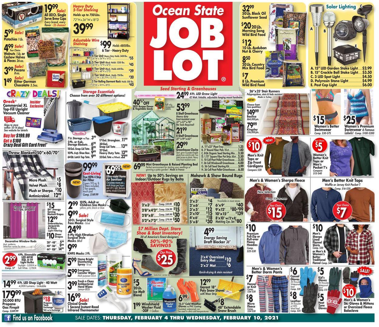 Ocean State Job Lot Weekly Ad Circular - valid 02/04-02/10/2021