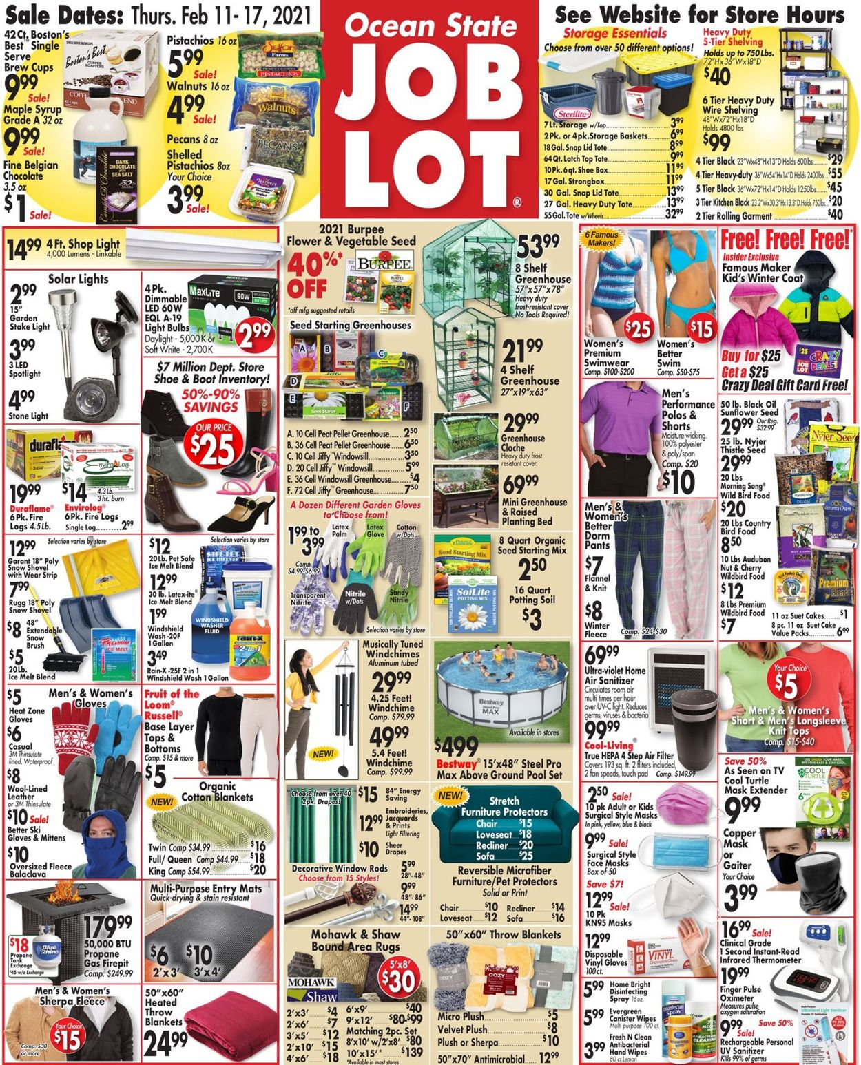 Ocean State Job Lot Weekly Ad Circular - valid 02/11-02/17/2021