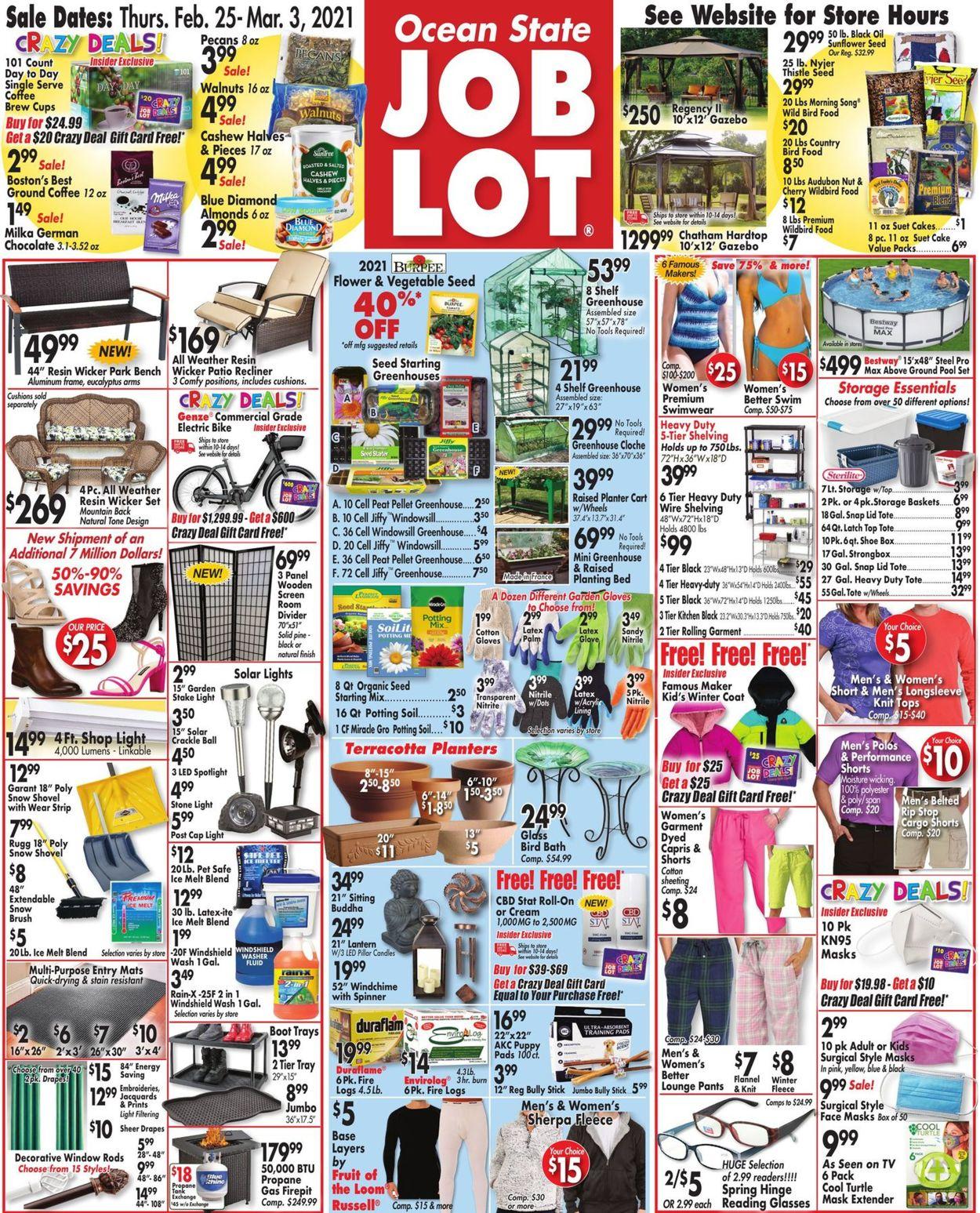 Ocean State Job Lot Weekly Ad Circular - valid 02/25-03/03/2021