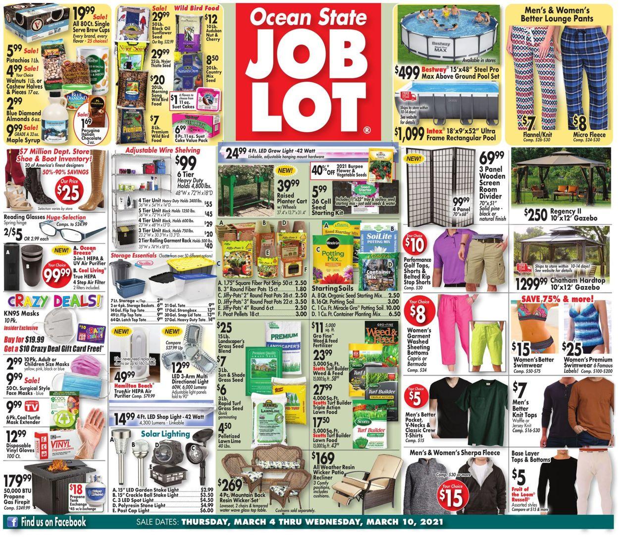 Ocean State Job Lot Weekly Ad Circular - valid 03/04-03/10/2021