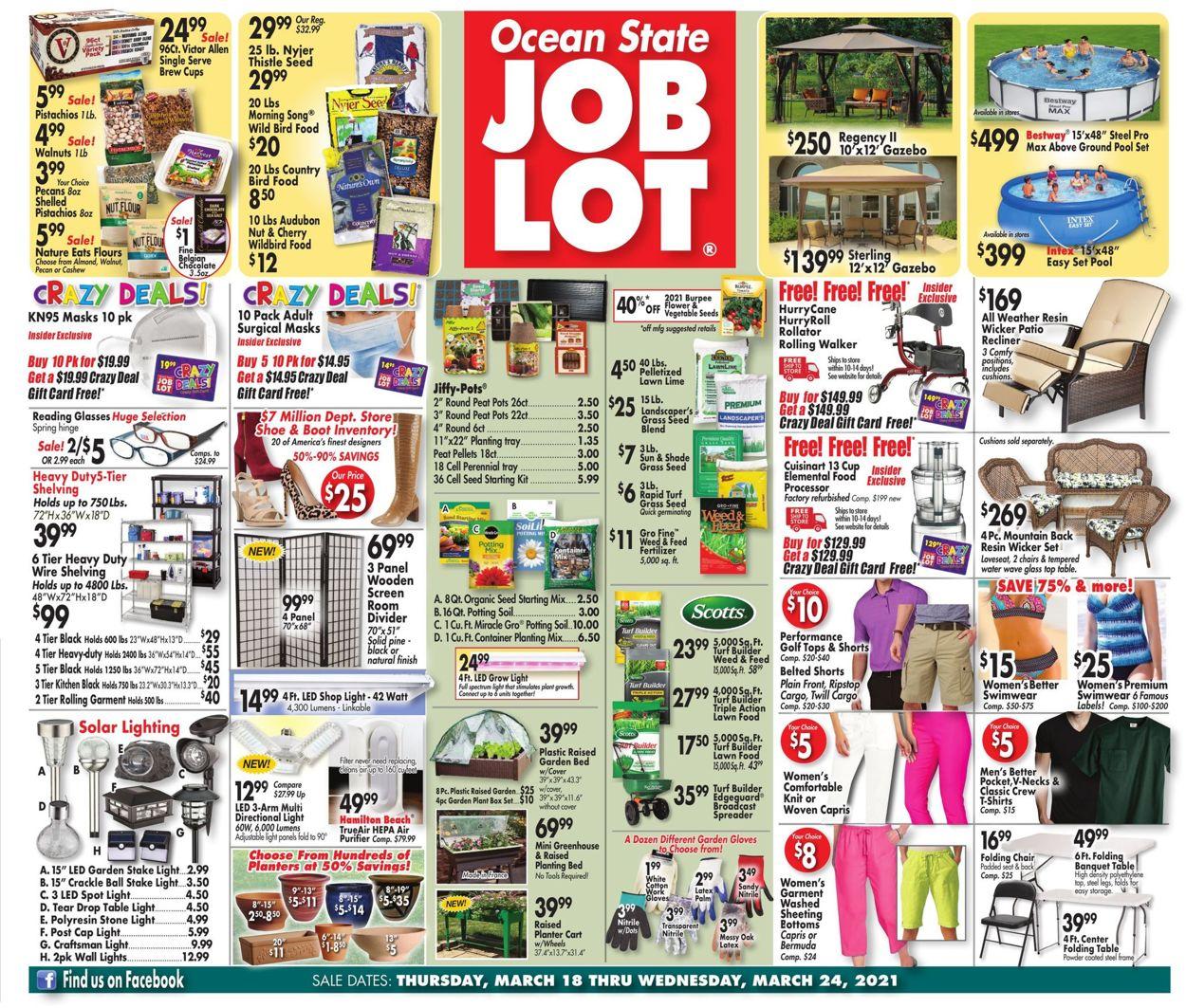 Ocean State Job Lot Weekly Ad Circular - valid 03/18-03/24/2021