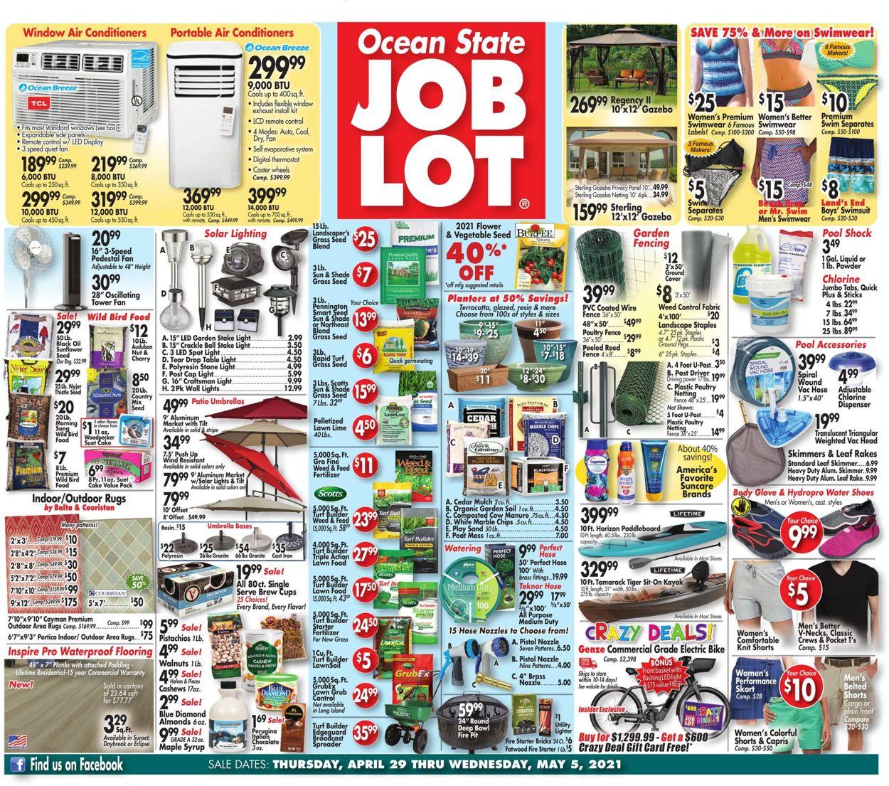 Ocean State Job Lot Weekly Ad Circular - valid 04/29-05/05/2021