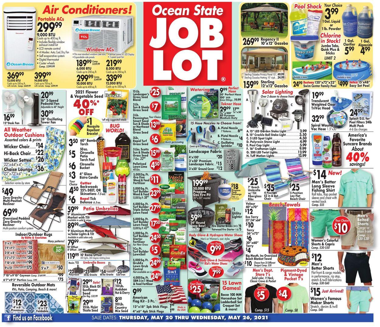 Ocean State Job Lot Weekly Ad Circular - valid 05/20-05/26/2021