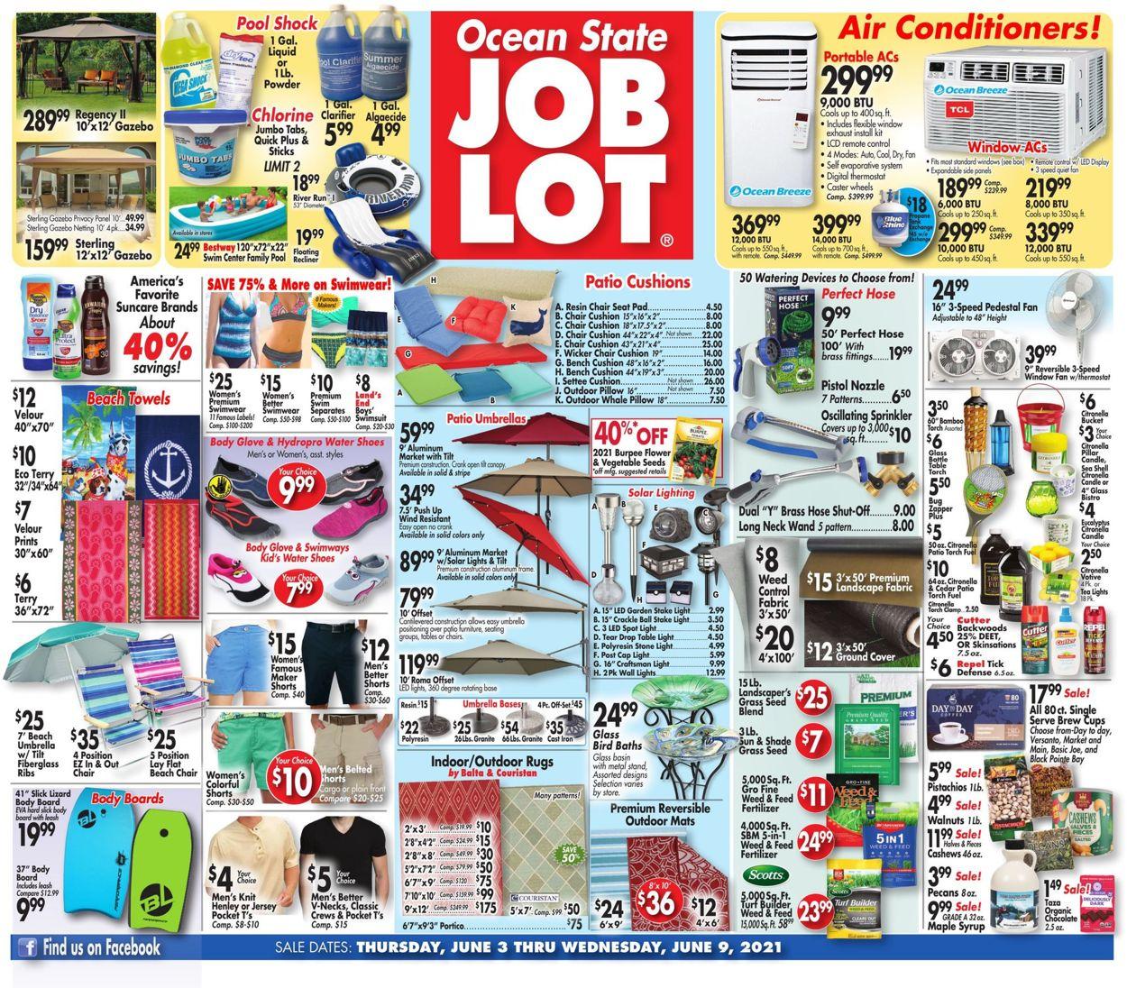 Ocean State Job Lot Weekly Ad Circular - valid 06/03-06/09/2021
