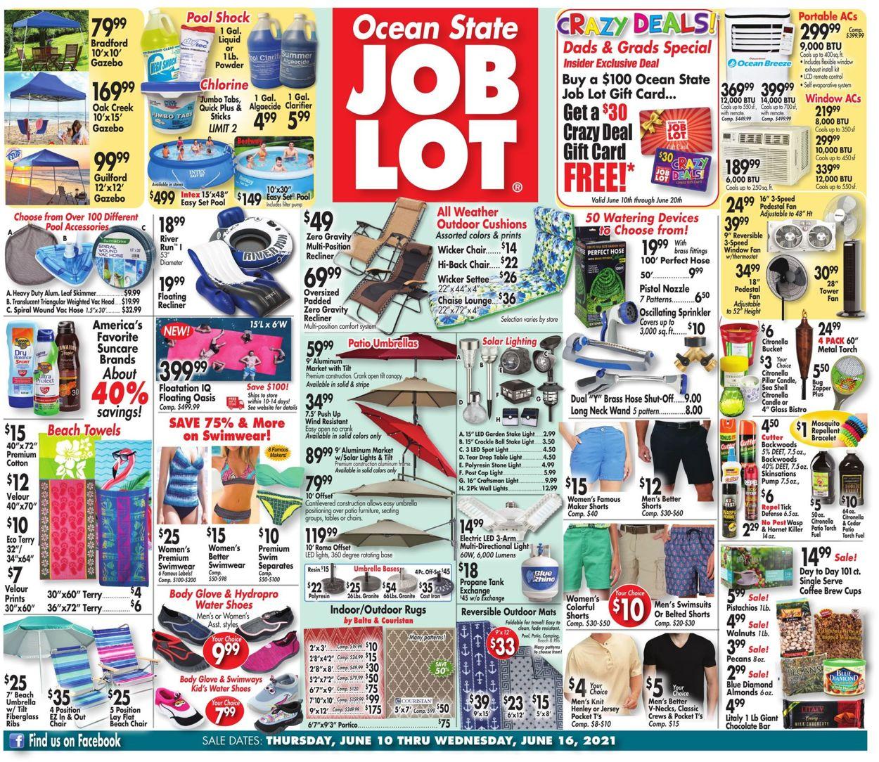 Ocean State Job Lot Weekly Ad Circular - valid 06/10-06/16/2021