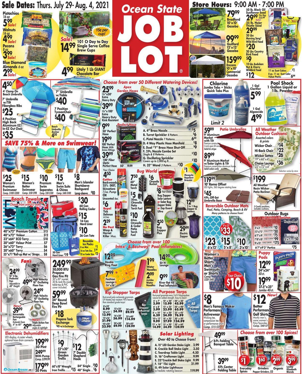 Ocean State Job Lot Weekly Ad Circular - valid 07/29-08/04/2021