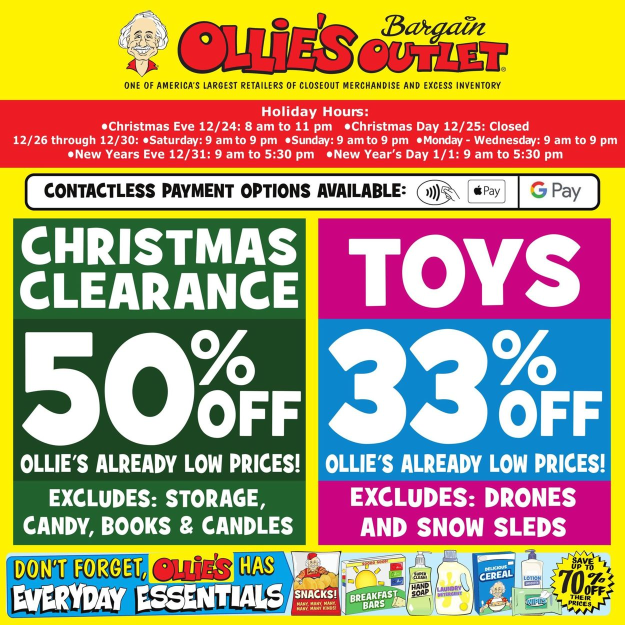Ollie's Weekly Ad Circular - valid 12/26-12/31/2020