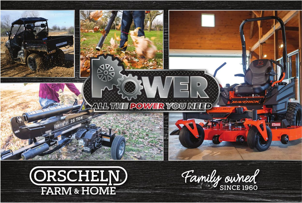 Orscheln Farm and Home Power Equipment 2021 Weekly Ad Circular - valid 02/03-12/31/2021