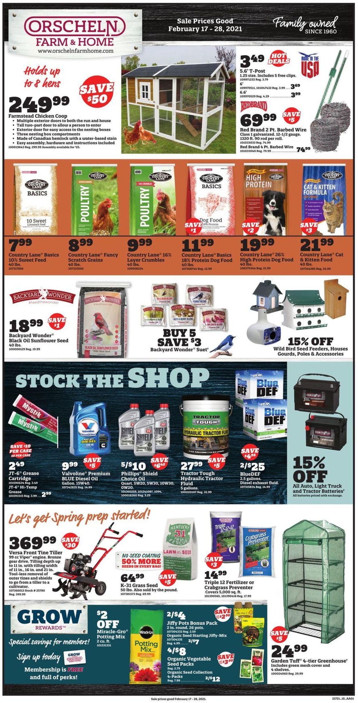 Orscheln Farm and Home Weekly Ad Circular - valid 02/17-02/28/2021