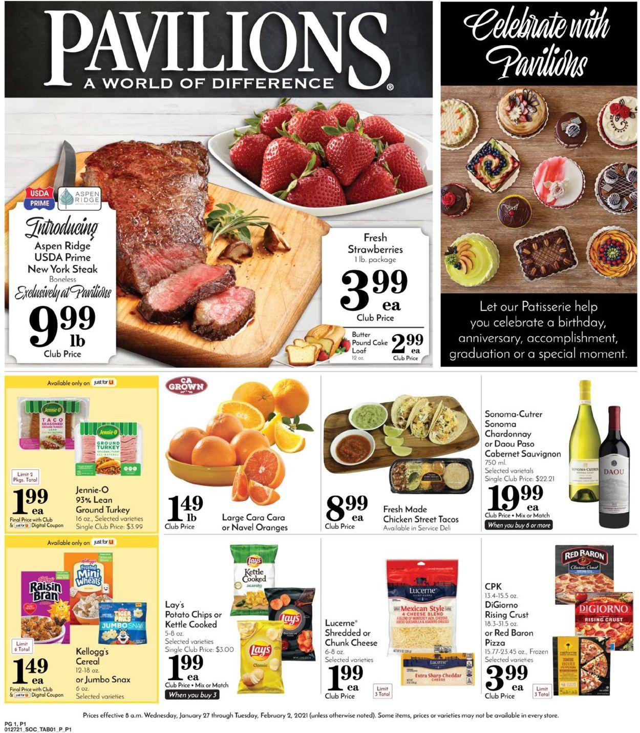 Pavilions Weekly Ad Circular - valid 01/27-02/02/2021