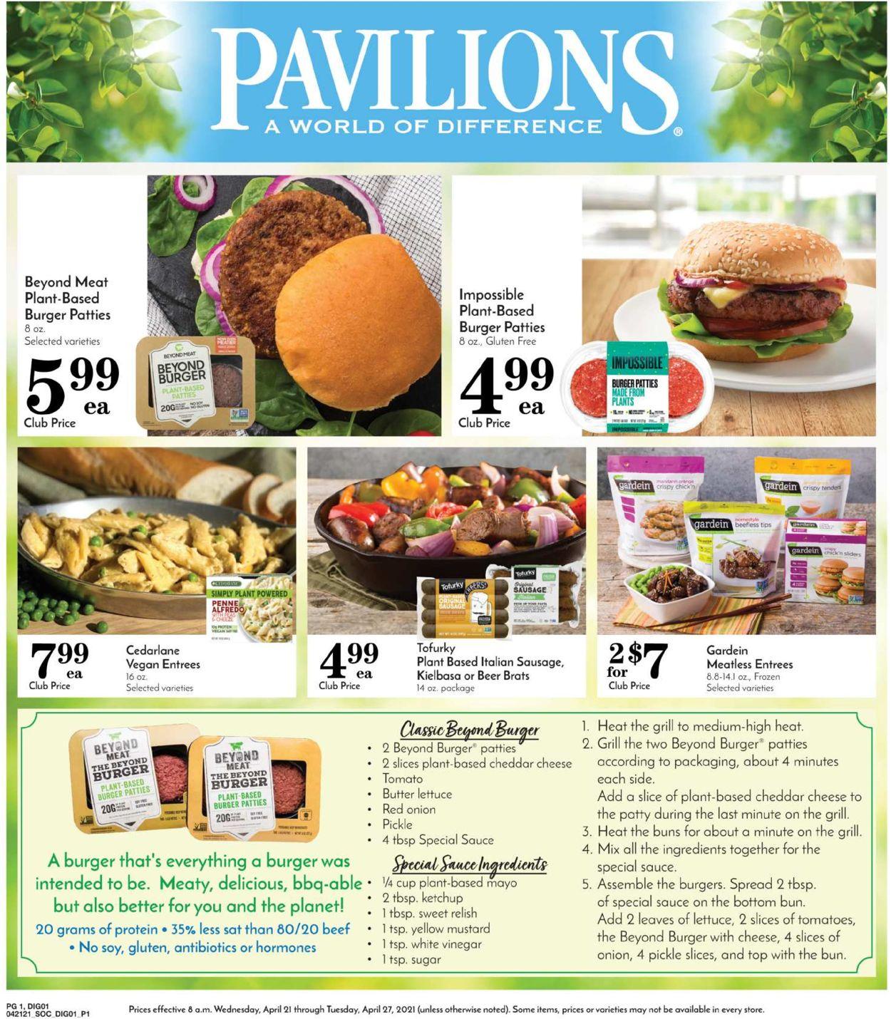 Pavilions Weekly Ad Circular - valid 04/21-04/27/2021