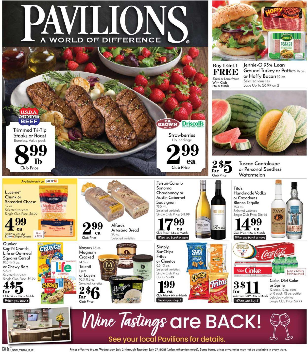Pavilions Weekly Ad Circular - valid 07/21-07/27/2021 (Page 3)