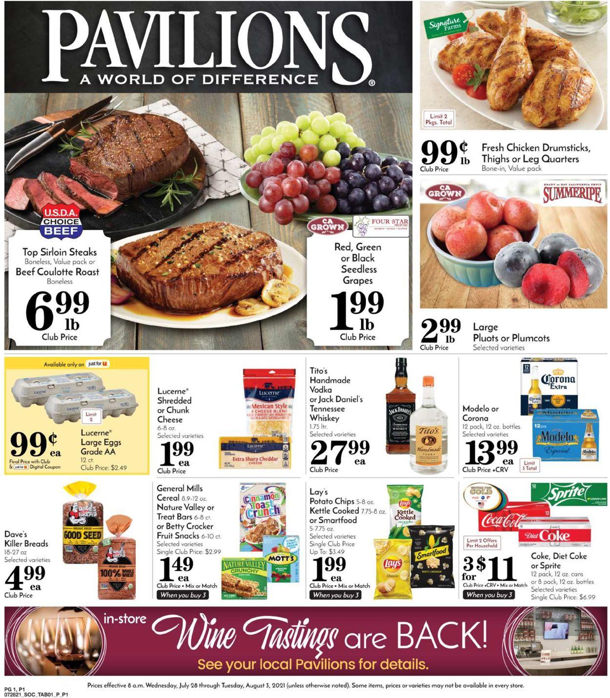 Pavilions Weekly Ad Circular - valid 07/28-08/03/2021