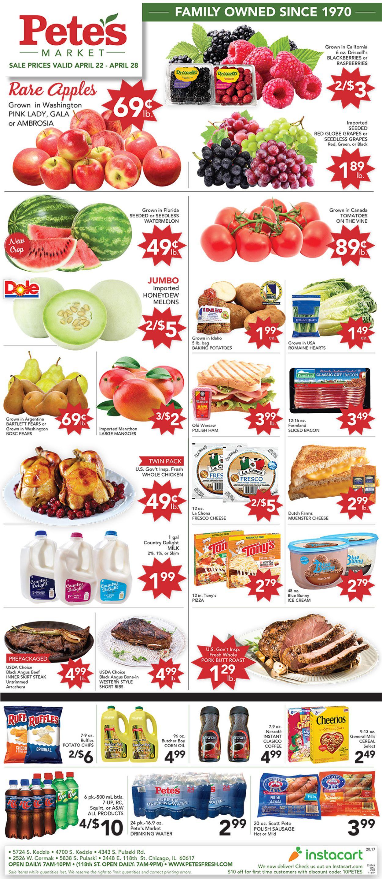 Pete's Fresh Market Weekly Ad Circular - valid 04/22-04/28/2020