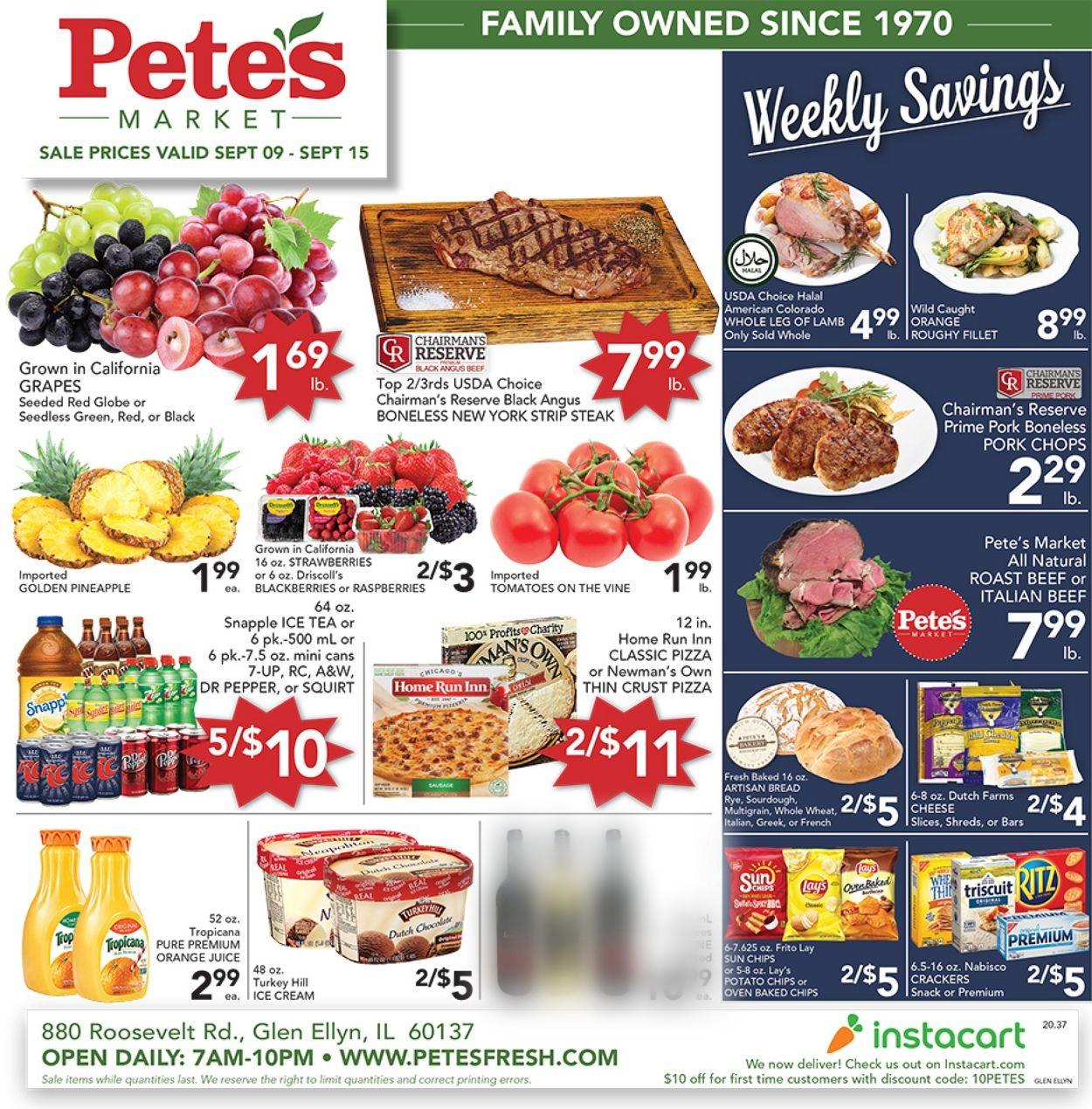 Pete's Fresh Market Weekly Ad Circular - valid 09/09-09/15/2020