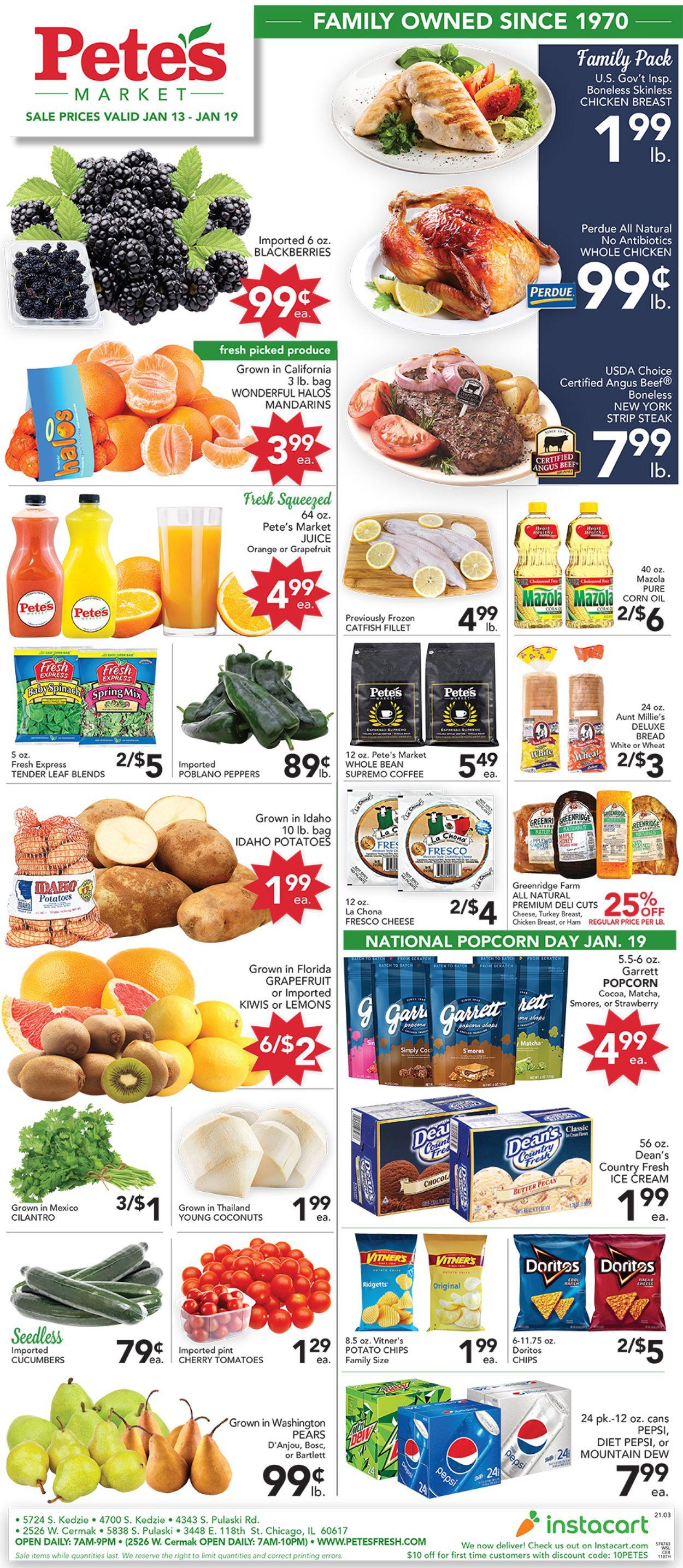 Pete's Fresh Market Weekly Ad Circular - valid 01/13-01/19/2021