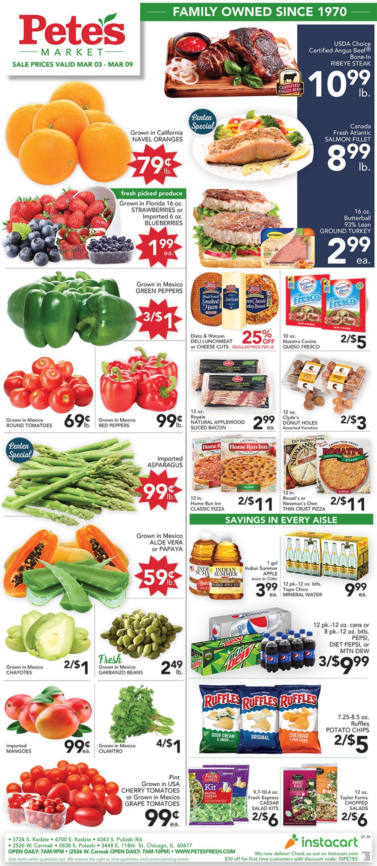 Pete's Fresh Market Weekly Ad Circular - valid 03/03-03/09/2021