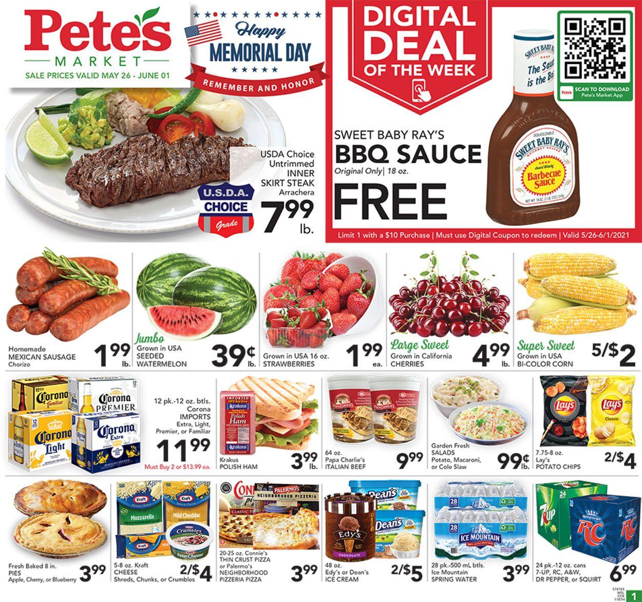 Pete's Fresh Market Weekly Ad Circular - valid 05/26-06/01/2021