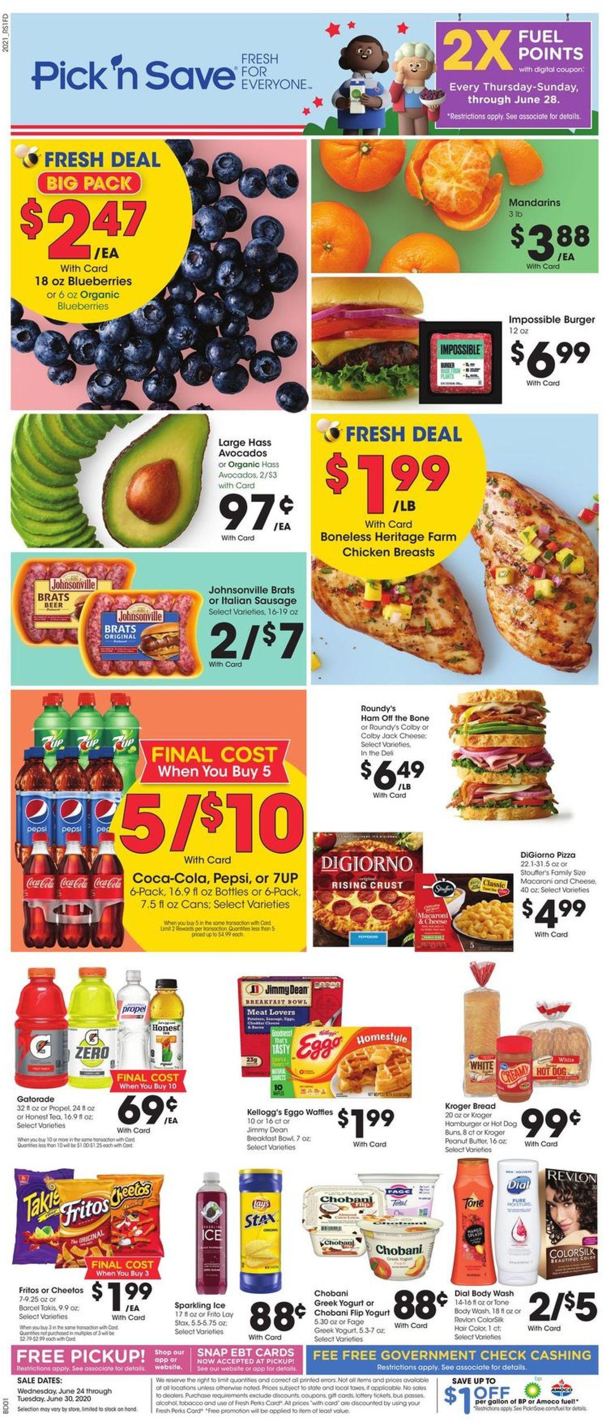 Pick 'n Save Weekly Ad Circular - valid 06/24-06/30/2020