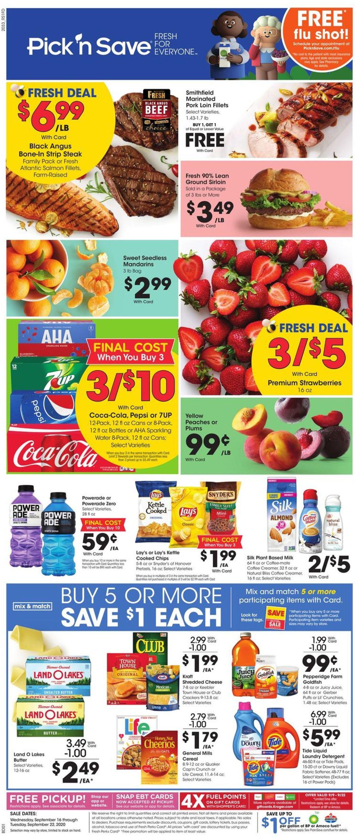 Pick 'n Save Weekly Ad Circular - valid 09/16-09/22/2020