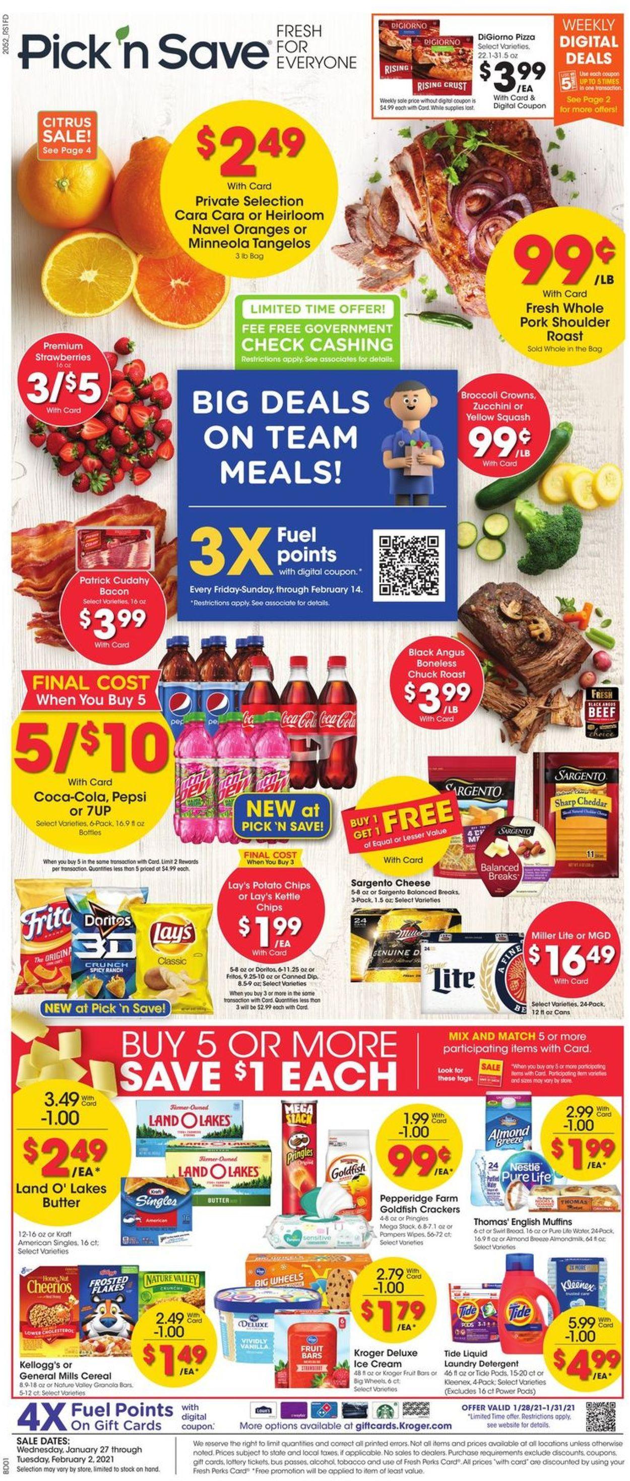 Pick 'n Save Weekly Ad Circular - valid 01/27-02/02/2021