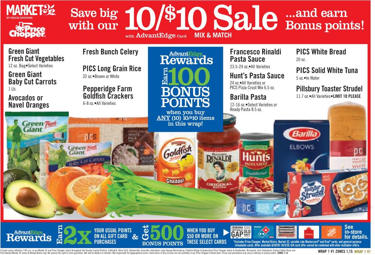 Price Chopper Weekly Ad Circular - valid 09/20-10/26/2020