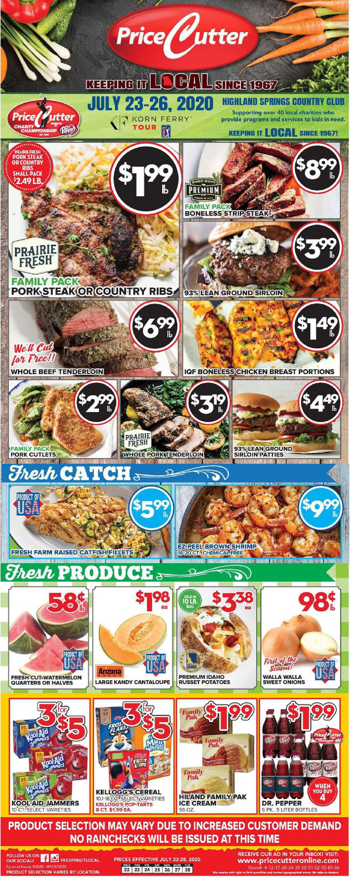 Price Cutter Weekly Ad Circular - valid 07/22-07/28/2020