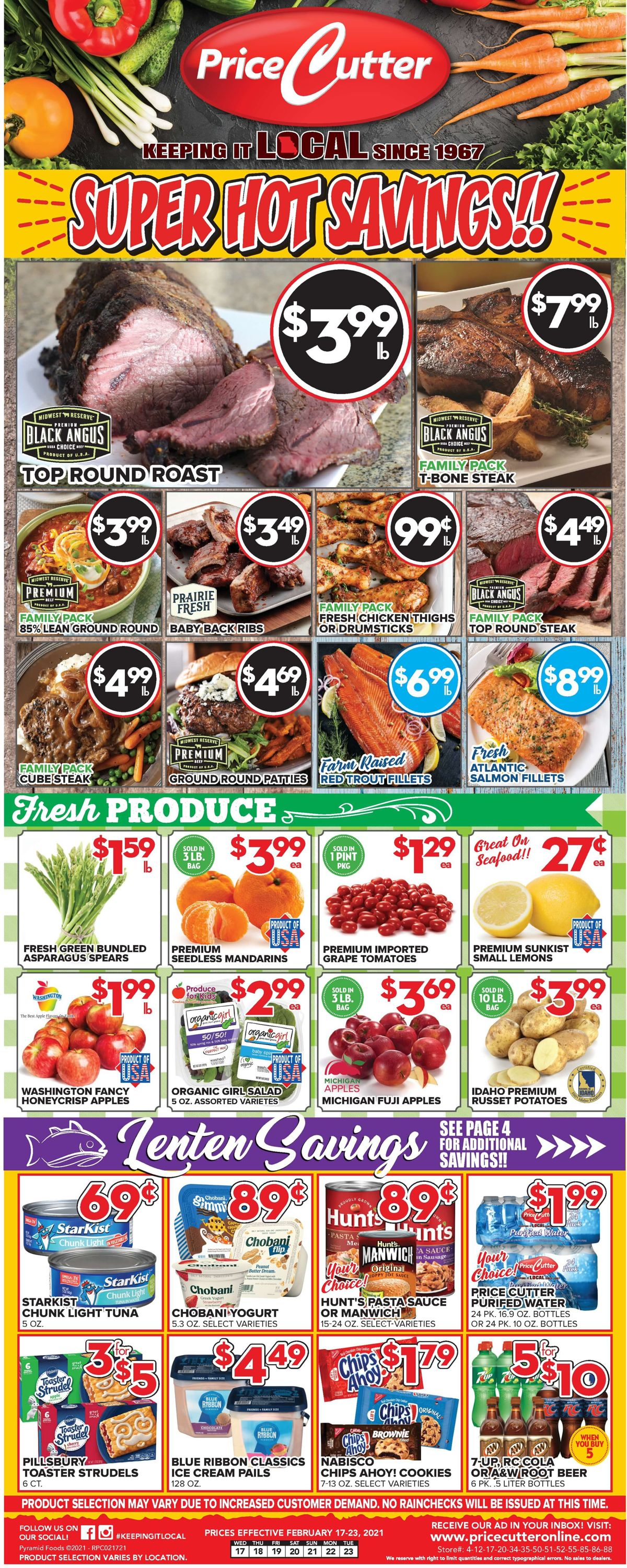 Price Cutter Weekly Ad Circular - valid 02/17-02/23/2021