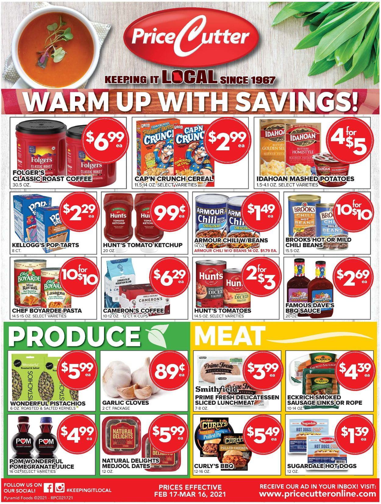 Price Cutter Weekly Ad Circular - valid 02/17-03/16/2021