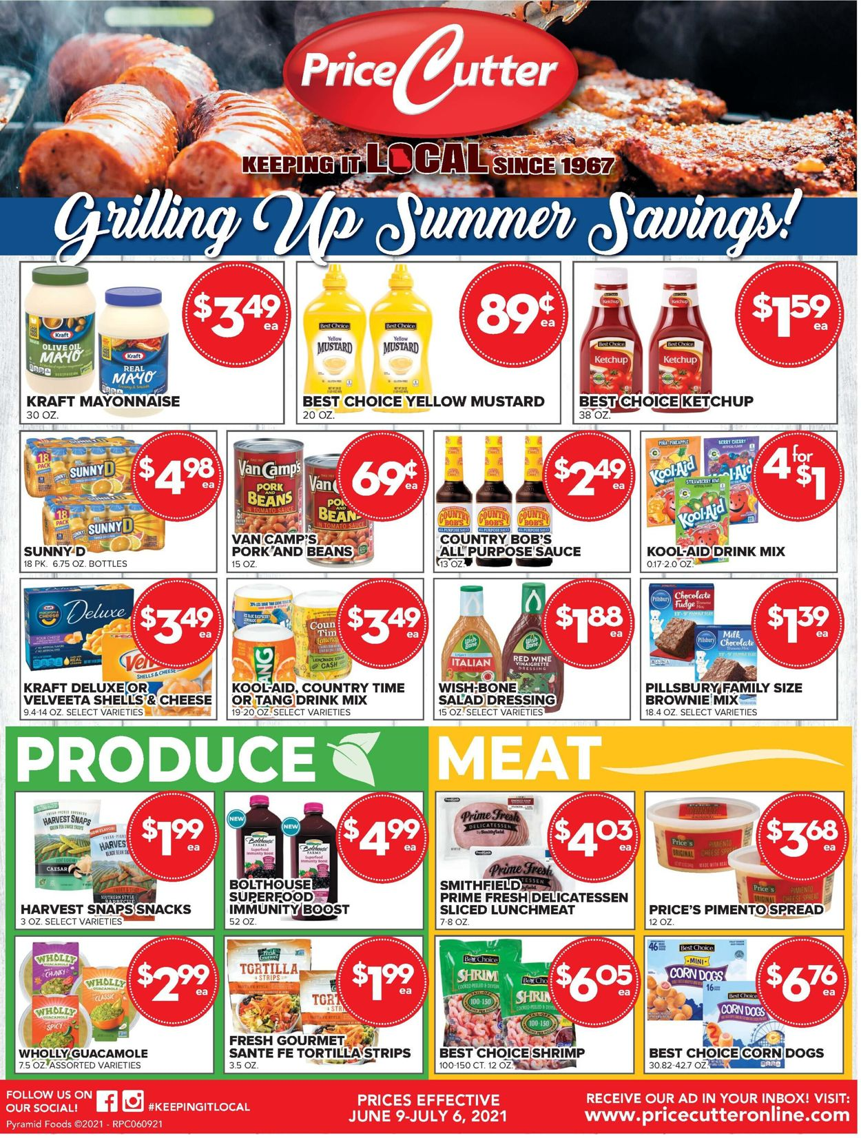 Price Cutter Weekly Ad Circular - valid 06/09-07/06/2021