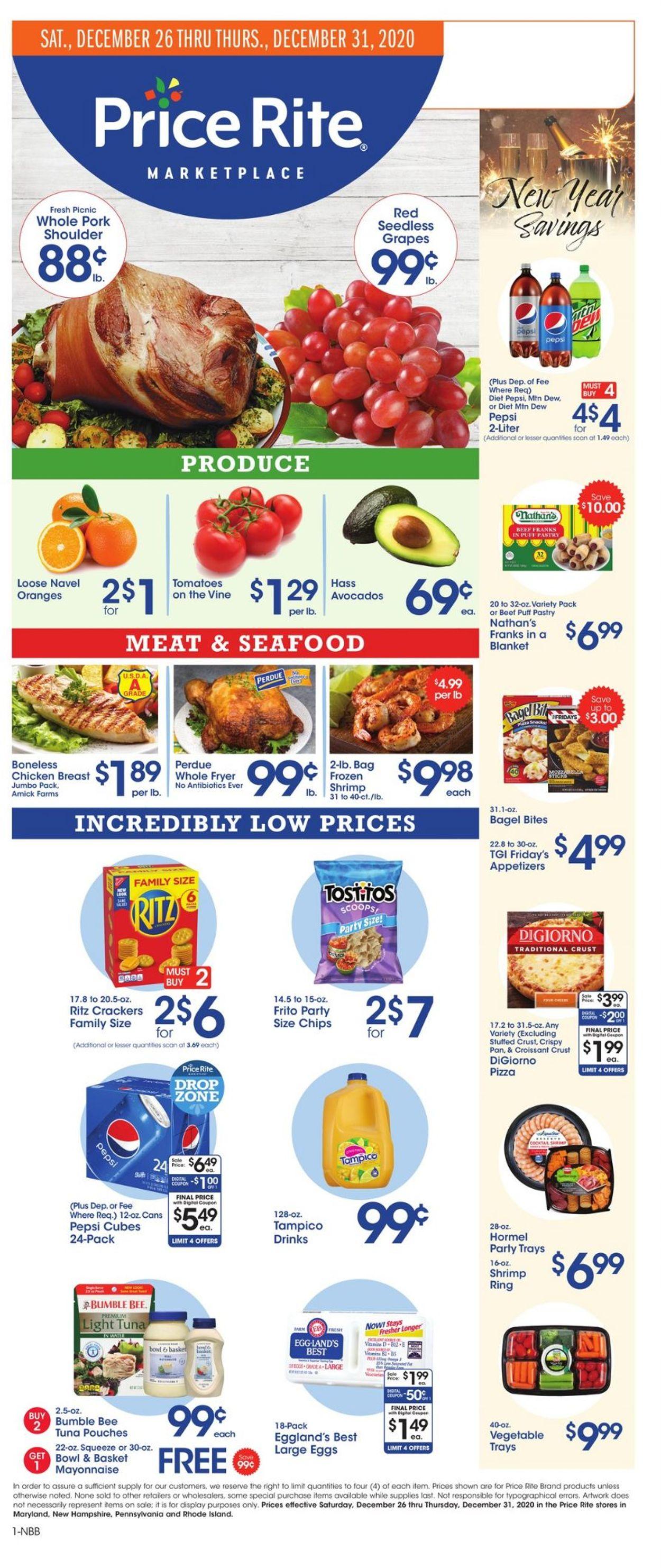 Price Rite Weekly Ad Circular - valid 12/26-12/31/2020