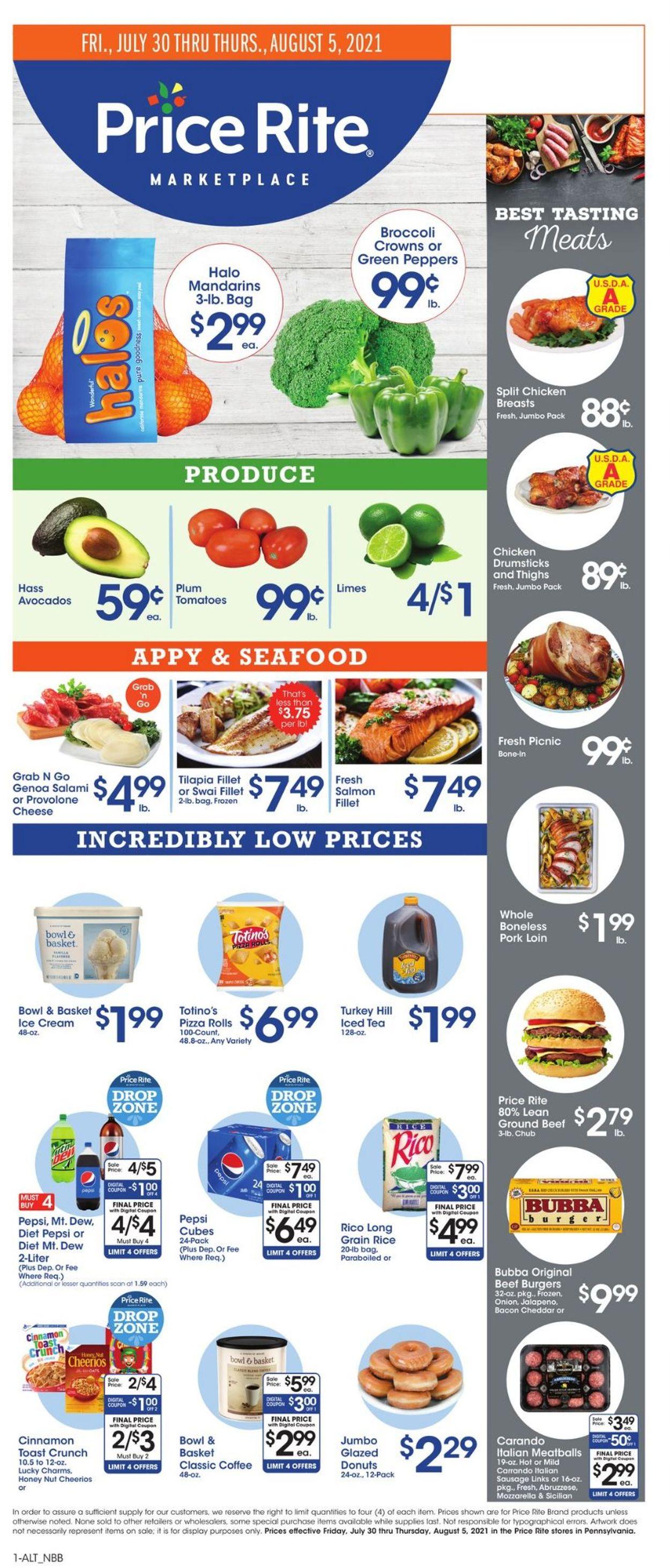 Price Rite Weekly Ad Circular - valid 07/30-08/05/2021