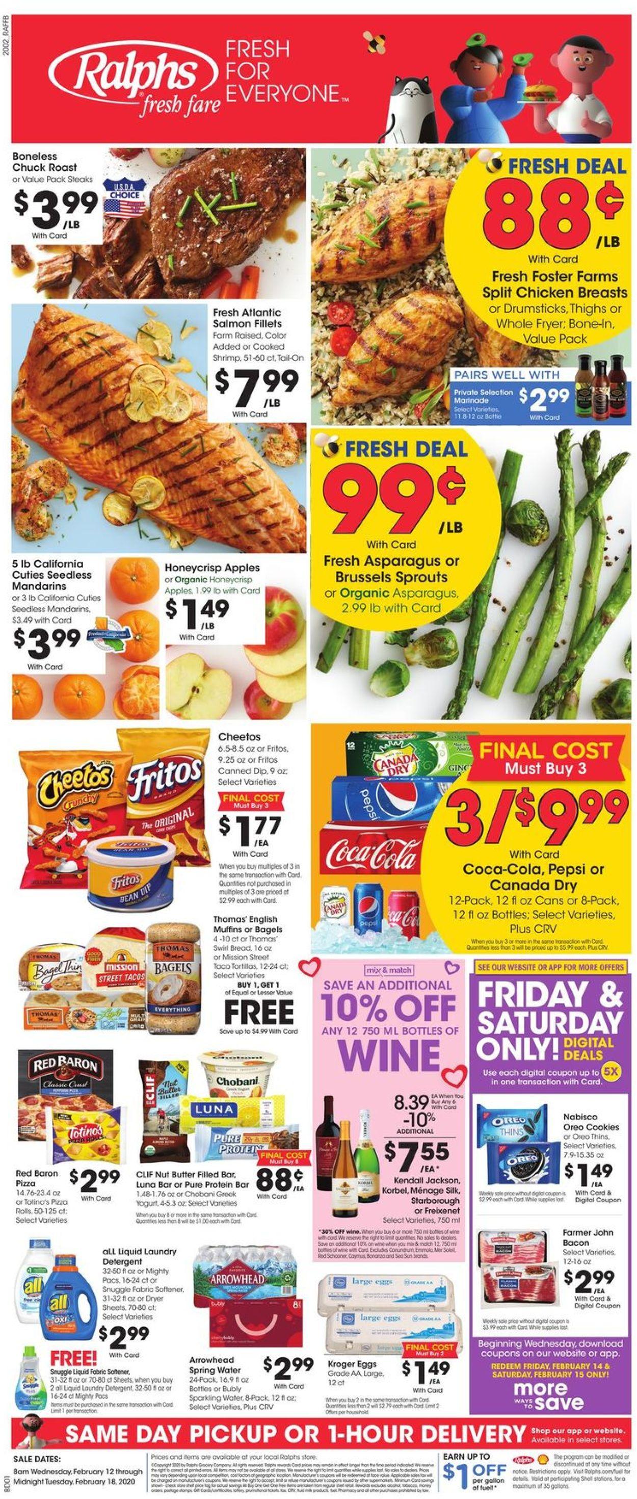 Ralphs Weekly Ad Circular - valid 02/12-02/18/2020