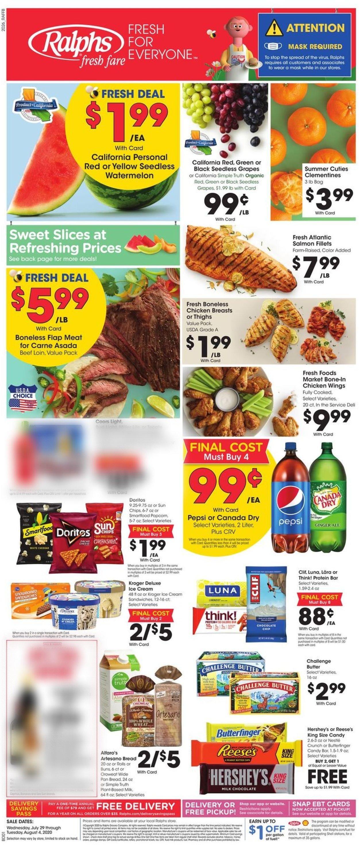 Ralphs Weekly Ad Circular - valid 07/29-08/04/2020