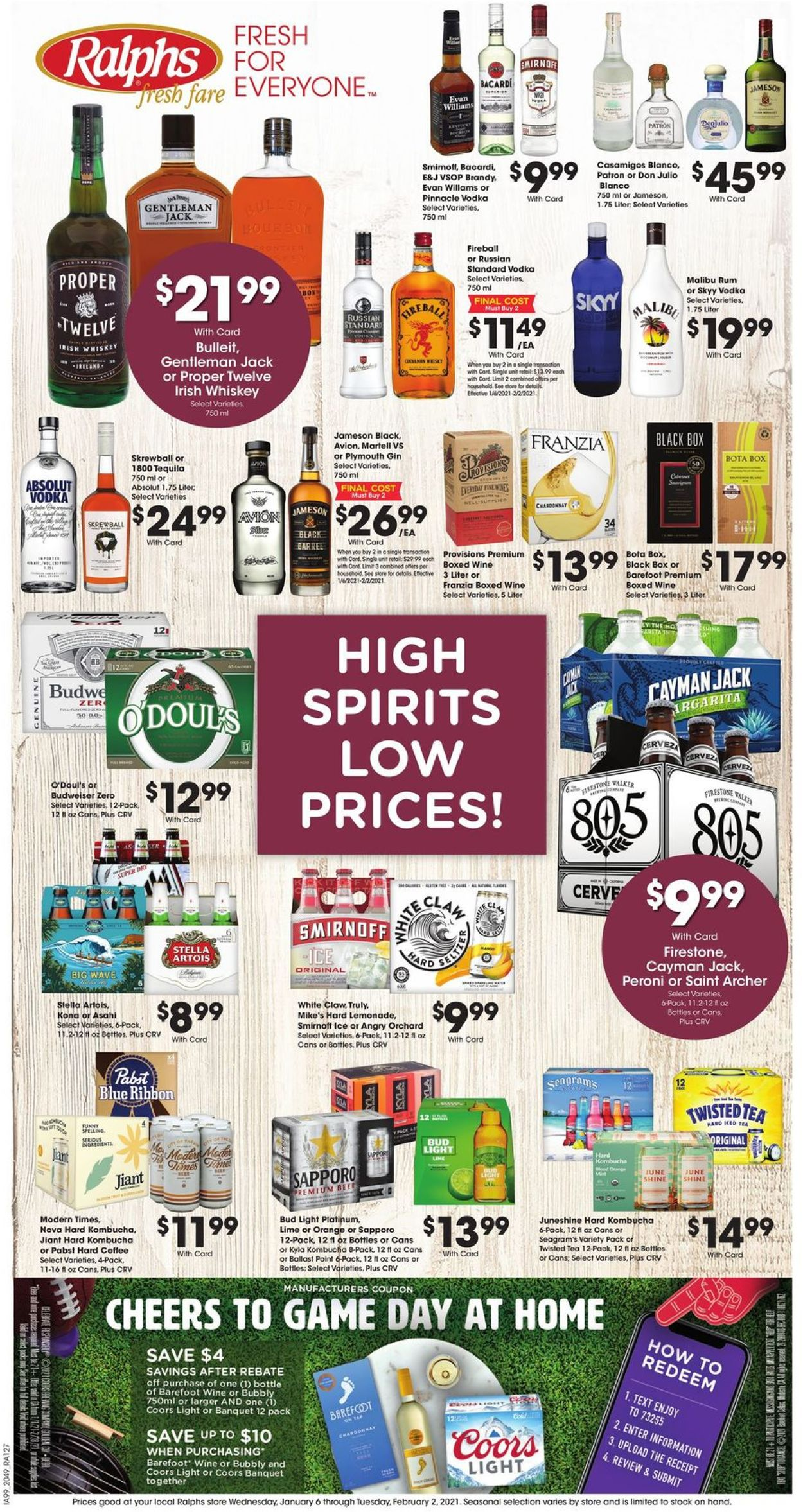 Ralphs High Spirits, Low Prices 2021 Weekly Ad Circular - valid 01/06-02/02/2021
