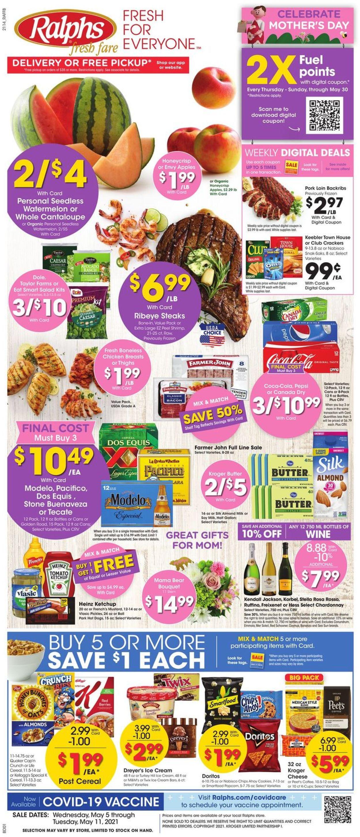Ralphs Weekly Ad Circular - valid 05/05-05/11/2021