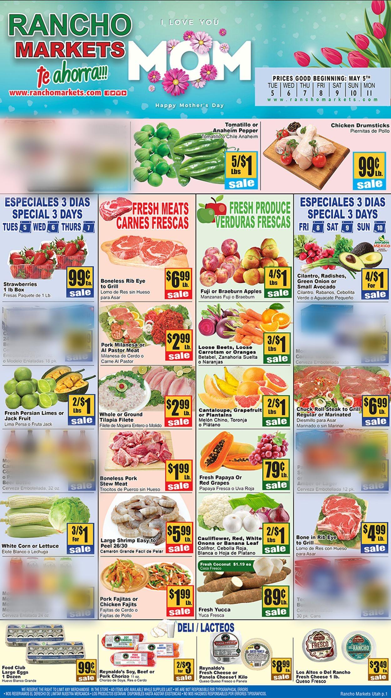 Rancho Markets Weekly Ad Circular - valid 05/05-05/11/2020