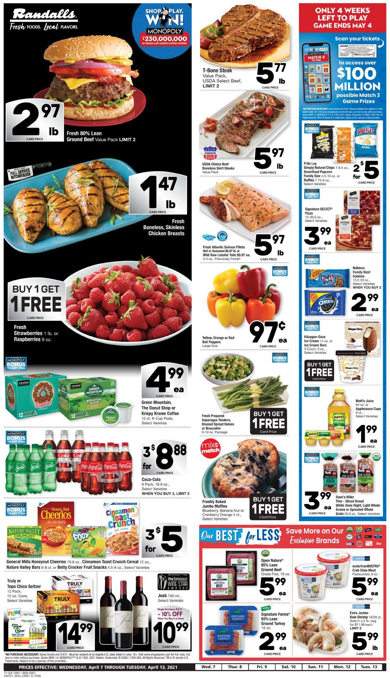 Randalls Weekly Ad Circular - valid 04/07-04/13/2021