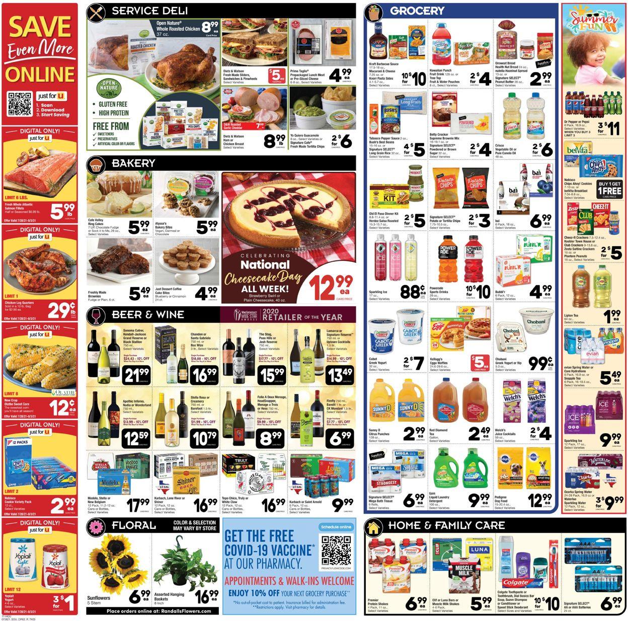 Randalls Weekly Ad Circular - valid 07/28-08/03/2021 (Page 2)