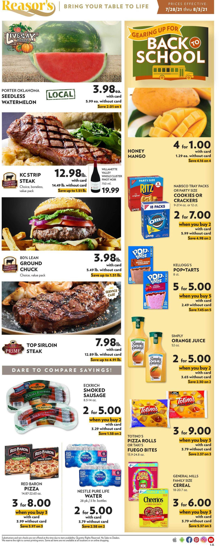 Reasor's Weekly Ad Circular - valid 07/28-08/03/2021