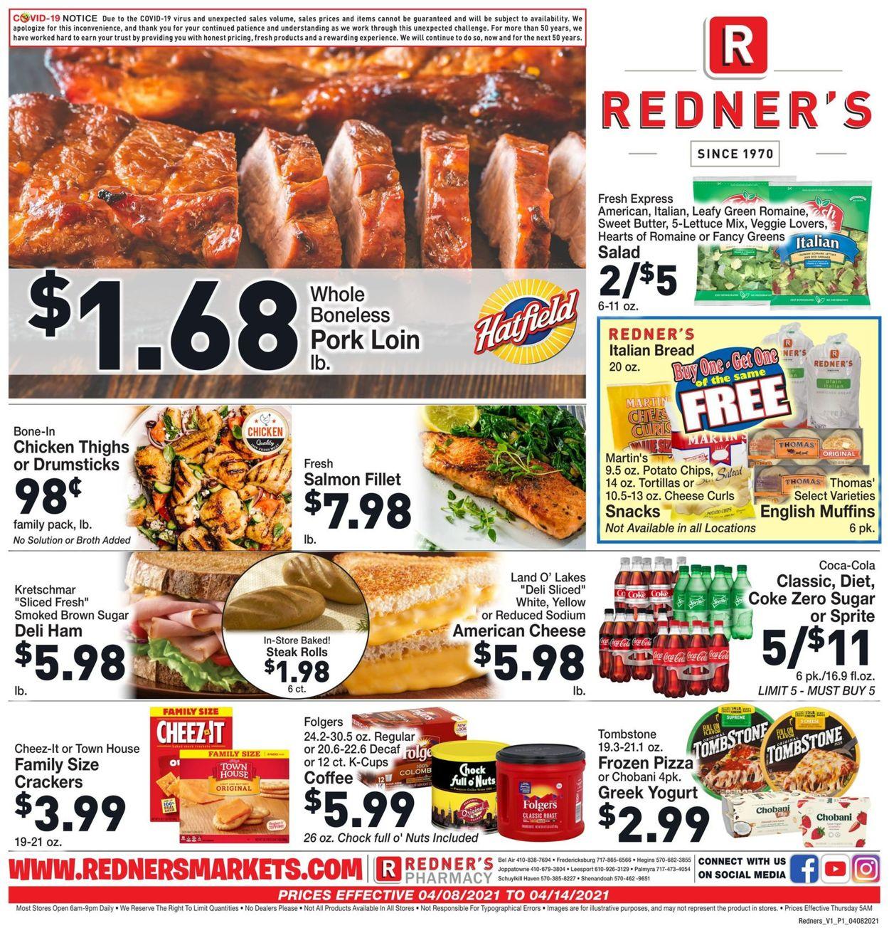 Redner's Warehouse Market Weekly Ad Circular - valid 04/08-04/14/2021