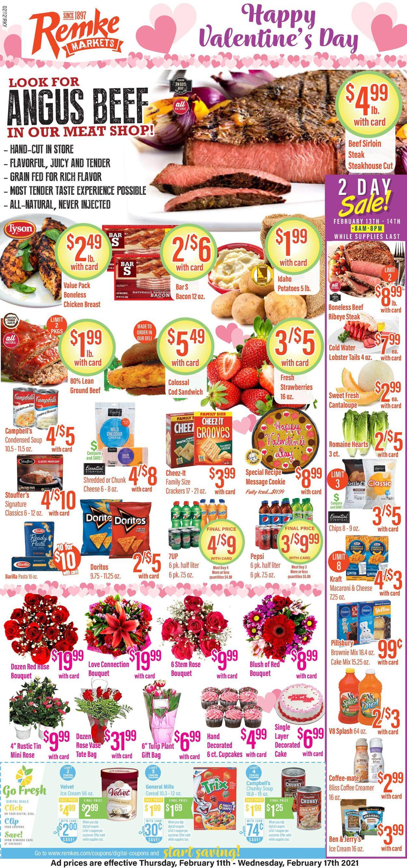 Remke Markets Weekly Ad Circular - valid 02/11-02/17/2021