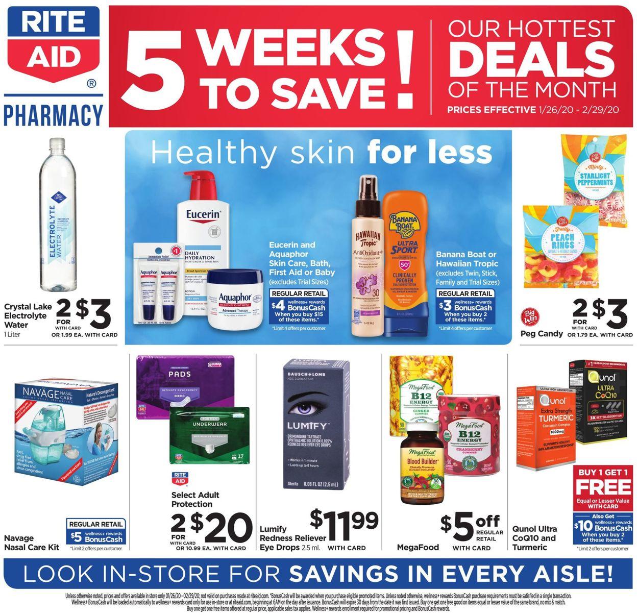 Rite Aid Weekly Ad Circular - valid 01/26-02/29/2020