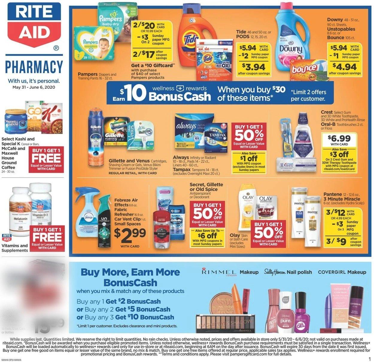 Rite Aid Weekly Ad Circular - valid 05/31-06/06/2020