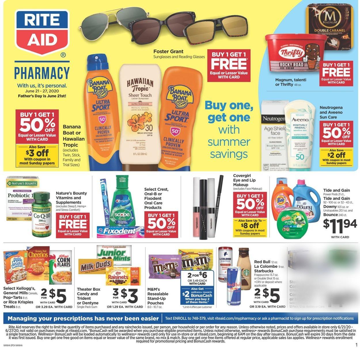 Rite Aid Weekly Ad Circular - valid 06/21-06/27/2020