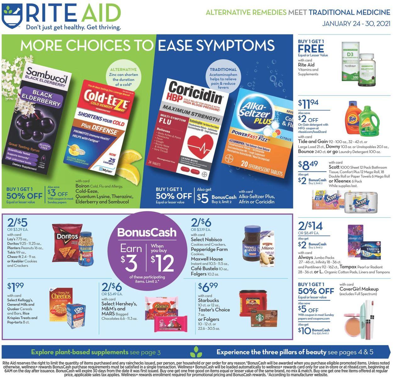 Rite Aid Weekly Ad Circular - valid 01/24-01/30/2021
