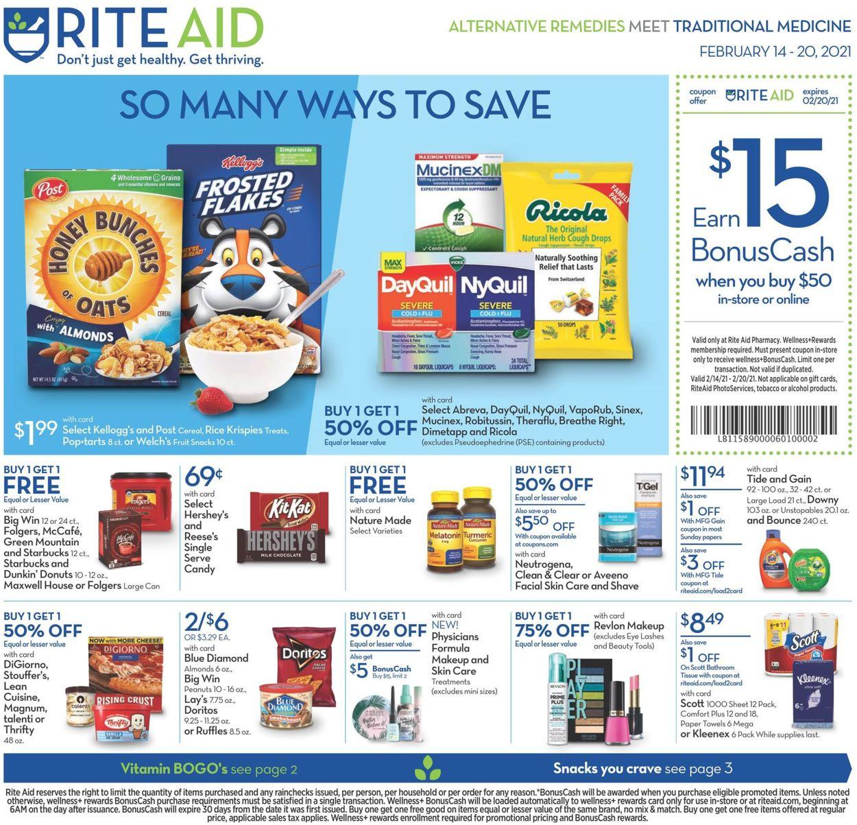Rite Aid Weekly Ad Circular - valid 02/14-02/20/2021
