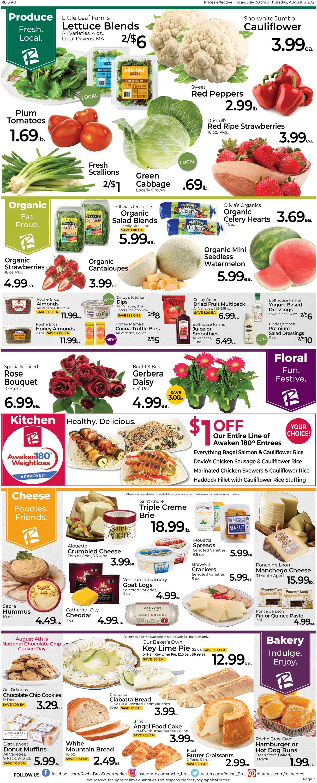 Roche Bros. Supermarkets Weekly Ad Circular - valid 07/30-08/05/2021 (Page 3)