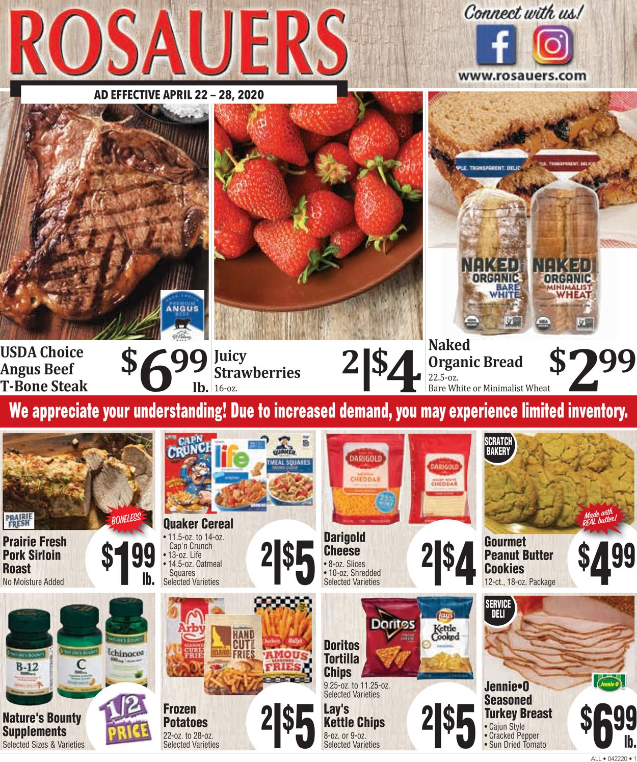 Rosauers Weekly Ad Circular - valid 04/22-04/28/2020